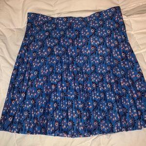 J. Crew pleated skirt.